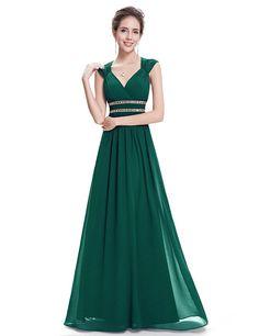 Amazon.com: Ever Pretty Womens Sleeveless Beaded Empire Waist Bridesmaid Dress 4 US Sky Blue: Clothing