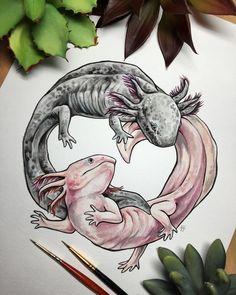Art And Illustration, Illustrations, Cute Drawings, Animal Drawings, Mexico Art, Yin Yang, Art Inspo, Amazing Art, Fantasy Art