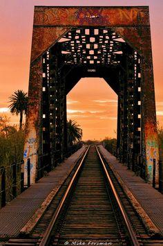 Ventura River Railroad Bridge, ive walked this track. Very stupid scary. Ventura California, Ventura County, California Coast, Oxnard California, Railroad Bridge, Railroad Tracks, Railroad Track Pictures, Beach Town, Train Tracks