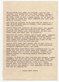 "Poem is typed on 6"" x 8"" hand pressed hemp paper using a 1955 Olympia SM3 Please note if you'd like signature on front or back"