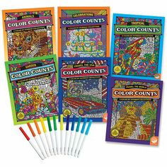 Amazon.com : Color Counts Set of 6 with 24 FREE Markers : Toys & Games