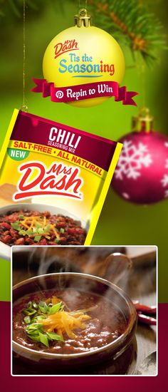 It's time to deck the halls with salt-free flavor!  Follow Mrs. Dash & repin your favorite Seasoning Mix Packet for a chance to win all 10 flavors & $100 to help you complete the perfect holiday party. (View board description for Official Rules, promotion ends 12/15).