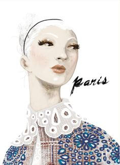 "Illustration by Eko Bintang, 1/2012, ""Paris - Louis Vuitton"", Dewi Koleksiana."