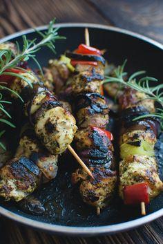 Grilled Garam Masala Chicken Kabob Recipe - eatrie