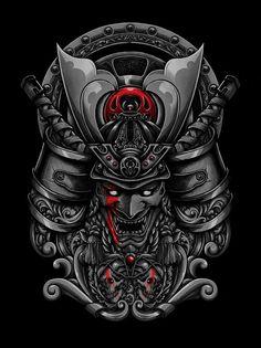 samurai demons artwork i did for blacklimited co. Hannya Tattoo, 4 Tattoo, Tattoo Drawings, Body Art Tattoos, Japanese Tattoo Art, Japanese Tattoo Designs, Japanese Sleeve Tattoos, Hannya Samurai, Samourai Tattoo