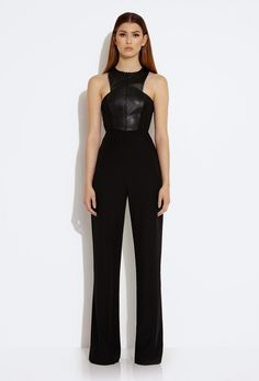 Crane Front Zip Jumpsuit - Black £135