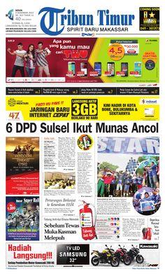 Tribun Timur edisi Senin, 8 Desember 2014