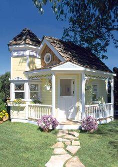 Victorian Playhouse-La Petite Maison Victorian Playhouse Um - riDONCulous, but adorable tinyhouse idea