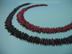 Polymer Clay , black-red and red-black from Ulsamer Schmuck