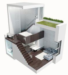 39 sqm 1 room apartment makeover