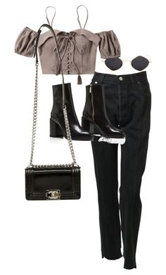 """""""Sans titre #918"""" by el-khawla ❤ liked on Polyvore featuring Vetements and Chanel"""