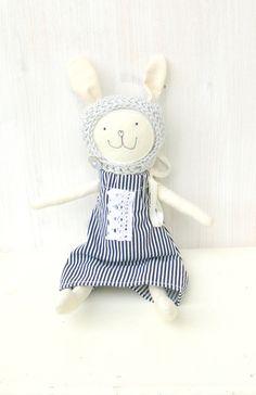Rag doll Stuffed Bunny Toy Plush toy Bunny Doll by MiniwerkaToys