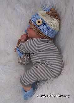 REBORN DOLL REALBORN(R) PRESLEY ASLEEP BOY BY BOUNTIFUL BABY LTD EDITION #136