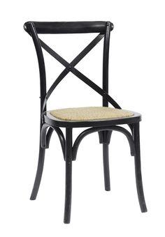 Spisebordsstol sort - fransk stol Nordal - god komfort