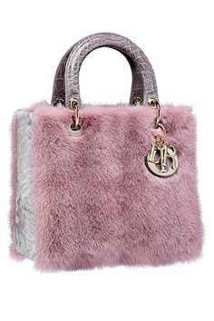Best Women's Handbags & Bags : Lady Dior Handbags collection & more… Dior Handbags, Purses And Handbags, Dior Bags, Fendi Bags, Coach Handbags, Winter Accessories, Fashion Accessories, Sac Lady Dior, Fur Bag