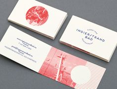 Logo and print with vintage red tinted photography detail designed by Uniform for recently refurbished Norwegian restaurant Ingierstrand Bad...