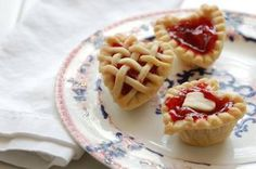 Mini cherry tarts!  (Cherries are a specialty of Door County Wisconsin)