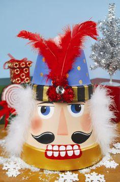 A.C. Moore Nutcracker Terra Cotta Pot #christmas #craft