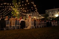 #Stringlights #Wedding #Reception #Imperial #Table #Decorations #Facade #CastellodiMontignano #Montignano