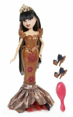 Bratz Sea Stunnerz Doll, Jade by Bratz. $25.00. Magnetic mermaid fins are removable. Pop on her heels for a completely new look. Bratz magically transform from girls to mermaids. Fins transform into two different outfits. From the Manufacturer                Bratz are adding a splash of glam to the deep blue sea as Mysterious Mermaids. Magnetic mermaid fins are removable. Fins transform into two different outfits.