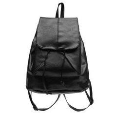 Dresslink - Dresslink New Artificial Leather School Bag Shoulder Bags Rucksack Travel Satchel Soft Backpack - AdoreWe.com