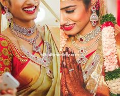 Bride in Stunning Diamond Jewellery
