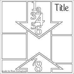 Ideas for Scrapbookers: Designing With Arrows + Template --- Daniel's Birthday! School Scrapbook, Kids Scrapbook, Disney Scrapbook, Scrapbook Albums, Scrapbook Cards, Scrapbook Photos, Birthday Scrapbook, Scrapbook Layout Sketches, Scrapbook Templates