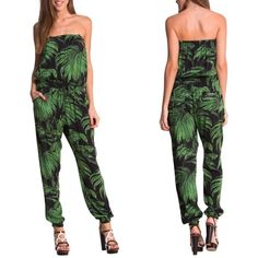 Desigual Aloha Palm Tree Jumper Brand new with tags. Super Sexy Aloha jumpsuit that is featured in many hot blogs across the country! Silky soft hand to the fabric with elastic in all the right places to keep you looking good all day, and all night, long. Fits pretty true to size, but the brand tends to run a little small. Desigual Pants