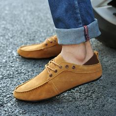Boat shoes men\'s lazy shoes British shoes influx of men Peas shoes 2012 new Korean men\'s casual shoes in summer-ZZKKO ($14.00) - Svpply