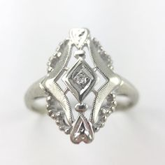 1920's antique bridal in the shop now! Make an appointment today to come check out the whole collection. #antiquebridal #alternativebridal #engagement ring  #personaljeweler