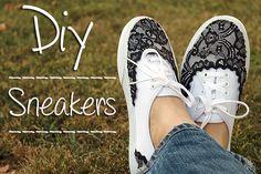 Sneakers con encaje DIY   AbaloriosCDB