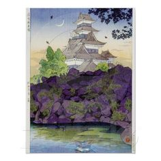 Cool oriental japanese Ancient Castle Palace art Posters SOLD! $13.60