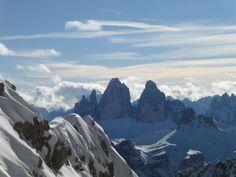 Drei Zinnen - Tre Cime - Dolomites Ski Touring, Skiing, Mountains, Nature, Travel, Ski, Naturaleza, Viajes, Trips