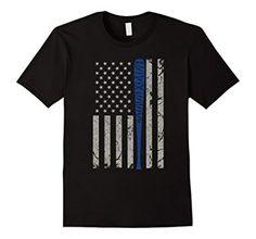 Amazon.com: Vintage American Flag Barbed Wire T-shirt Blue Bat $19.99