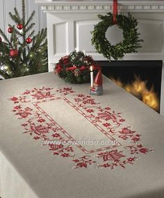 Buy Jacobean Flowers Embroidery Tablecloth Kit Online at www.sewandso.co.uk