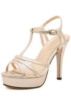 Charming Peep-toe Platform High Heel Sandals -