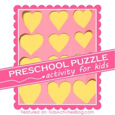 Learning Activities for Young Children {DIY Puzzle and Matching Game}