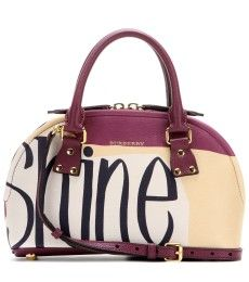 Burberry Prorsum - Printed leather bowling bag