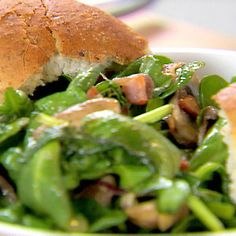 Spinach Salad with Warm Bacon and Apple Cider Dressing Recipe