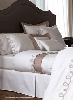 Yves Delorme Bedding . Italics Baltic . Designer Bed Linen Collections
