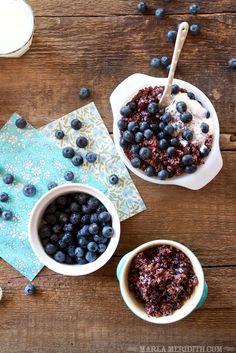 Blueberry Quinoa | Delicious, gluten-free breakfast | FamilyFreshCooking.com