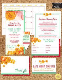 Digital Printable DIY Baby Shower Garden by StudioBeePrints, $75.00