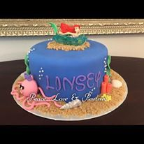 Under the sea cake by Peace, Love & Pastries #cake #nola #birthdaycake #littlemermaid