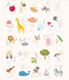 Mr Printables Alphabet Poster - make into kids table place mats Abc Poster, Poster Alphabet, Kids Alphabet, Alphabet Wall Art, French Alphabet, Alphabet Cards, English Alphabet, Animal Alphabet, Kids Poster