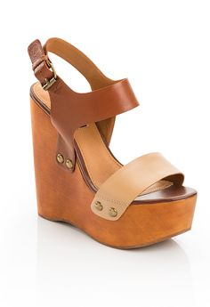 wooden wedge sandals - the neutral color goes with everything!