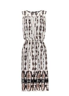 Pleated printed dress - MNG