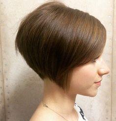 Cute, Straight Short Bob Haircut for Brown Hair - Easy, Everyday Hairstyles