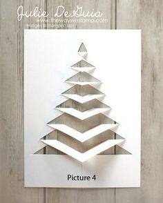 Diy christmas cards 409053578654901841 - Christmas and Holiday Card Ideas Christmas Card Crafts, Christmas Origami, Homemade Christmas Cards, Christmas Tree Cards, Christmas Printables, Christmas Projects, Handmade Christmas, Christmas Crafts, Christmas Holiday