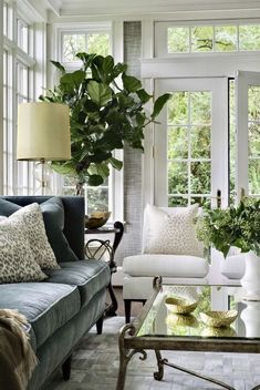 Get inspired by Traditional Living Room Design photo by BHDM Design. Wayfair lets you find the designer products in the photo and get ideas from thousands of other Traditional Living Room Design photos. Living Room Colors, Living Room Grey, Home And Living, Living Room Designs, Modern Living, Cozy Living, Small Living, Living Room With Plants, Blue And Green Living Room