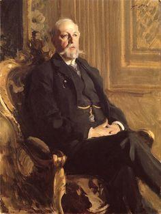 "Anders Zorn (1860-1920), Sweden | ""King Oskar II of Sweden"" | 1898 Oil"